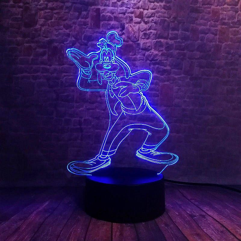 Goofy Illusion LED Lamp 7 Colors Options 3D Light Experience