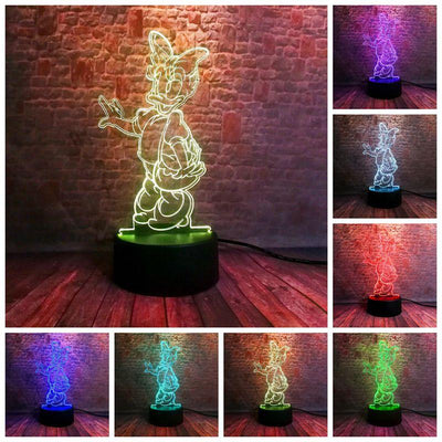 Luminous Daisy Duck Anime Figure 3D Illusion Lamp LED 7 Color - Accessories - ustreetstyle