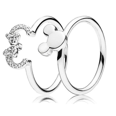Mickey & Minnie 925 Sterling Silver Ring -  - ustreetstyle