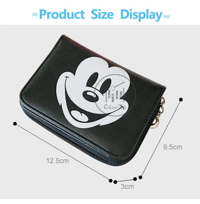 Mickey Mouse Leather Wallet - Wallets - ustreetstyle