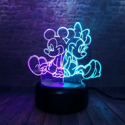 Colorful Mickey Family Modeling 3D Nightlight LED Mixed 7 Color - Accessories - ustreetstyle