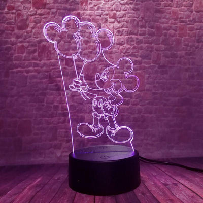 Luminous Mickey Mouse Model 3D Illusion Lamp LED 7 Colorful Change - Accessories - ustreetstyle