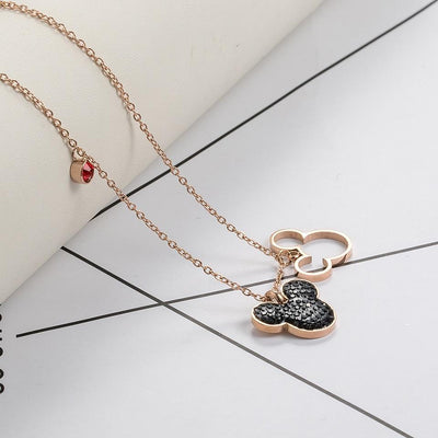 Mickey Minnie Mouse Pendant Necklace -  - ustreetstyle