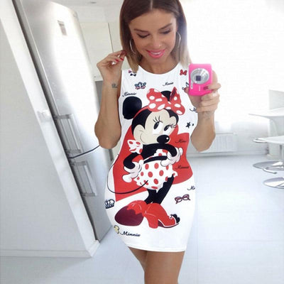 Summer fashion cartoon Mickey ladies party dress -  - ustreetstyle