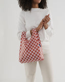 BAGGU Reusable Bag Singapore Rally Rally Rose Checkerboard