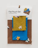 Flat Pouch Set - Painted Daisies