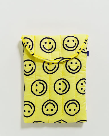 "BAGGU Puffy Laptop Sleeve 13"" Yellow Happy - RALLY RALLY Singapore"