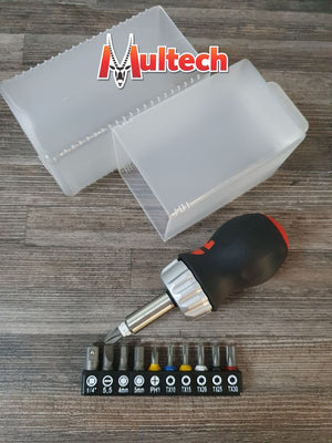 Würth Mini Ratchet Screwdriver 11 Bits