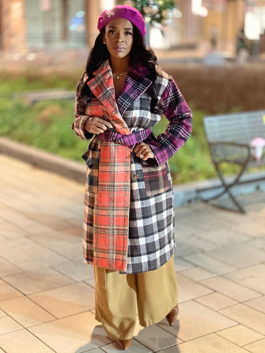 Over the Top/ Plaid Coat