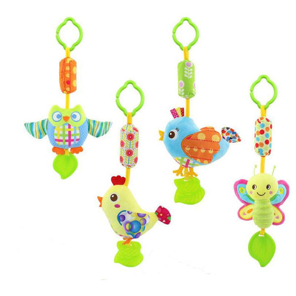 0 3 Y Silicone With gutta-percha Teethers Baby Music Hanging Bell Lovely Hand Bell For Baby Stroller WJ291