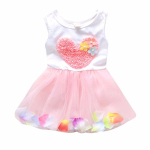 0-4Y Kids Girls Summer Tutu Dress Baby Girl Princess Party Wedding Flower Dresses Children Clothes