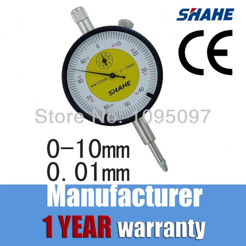 0.01mm High Accuracy Metric Dial Indicator Dial Gauge Measuring Tool dial indicator 0-10mm