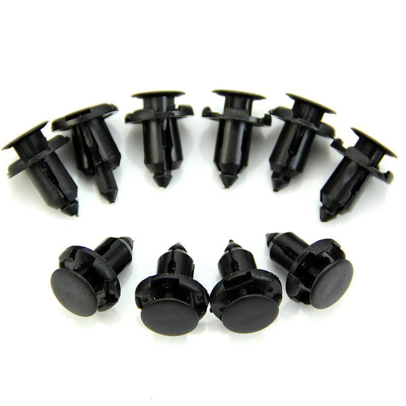 10Pcs 9mm Hole Nylon Rivet Fastener Fender Retainer Push in Clips for Honda