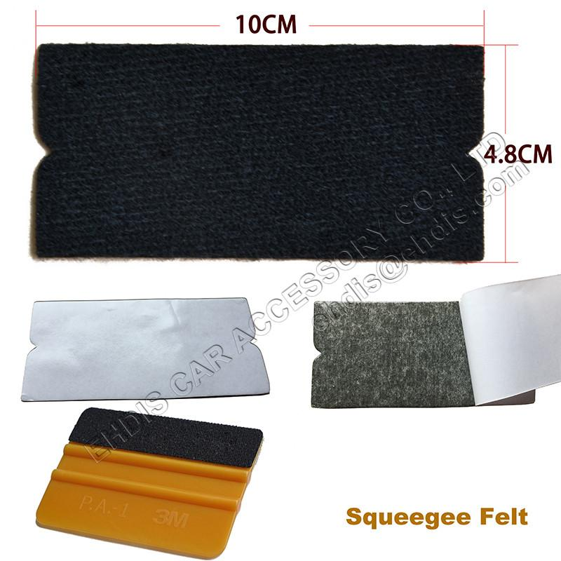10Pcs Car Vinyl Film Wrap Felt for All 10cm Plastic Squeegee Edge Automobile Window Tint Tool Squeegee Fabric Felt Edge A02F