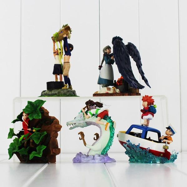 10styles Hayao Miyazaki Studio Ghibli Warriors of the Wind The Borrower Arrietty Ponyo on the Cliff Spirited Away PVC figure toy