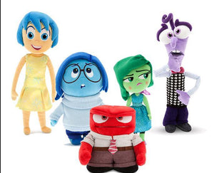 13-21cm Pixar Movie Inside Out plush toy cartoon Sadness Fear Joy Disgust stuffed doll for children