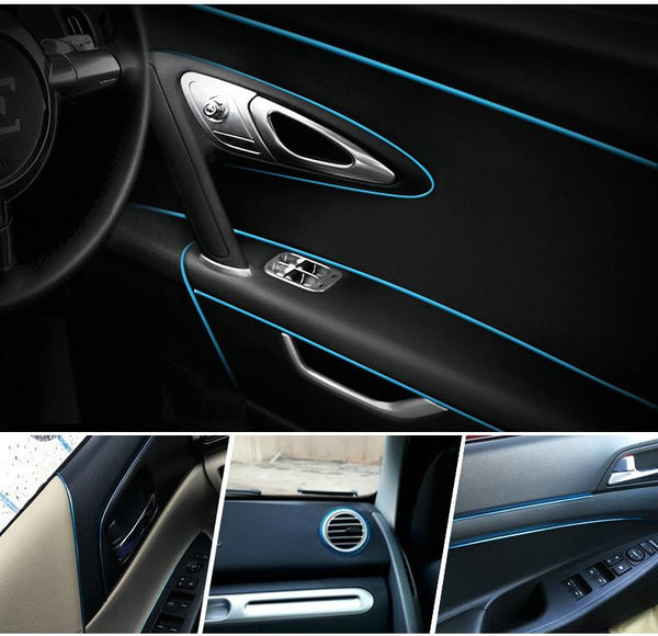 1M Car Styling Flexible Interior Internal Decoration Moulding Trim Decorative Strips Line DIY Dashboard Decoration Thread