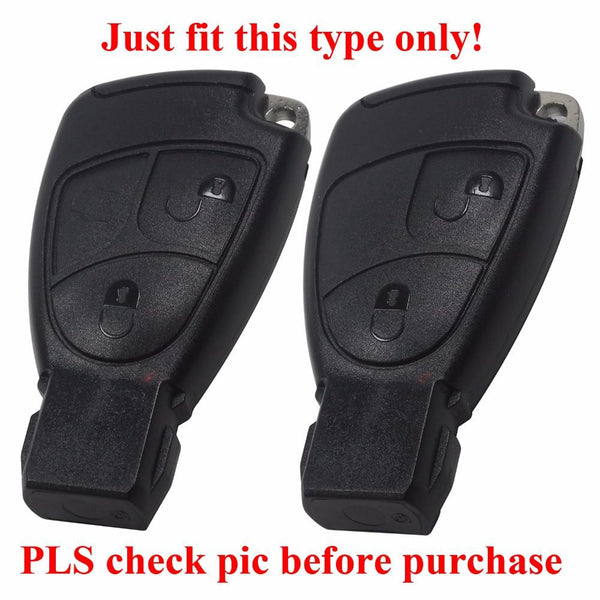 2 3 Button Silicone Remote Key Case For Mercedes For Benz B C E ML S CLK CL Fob Cover Holder With L0G0 keyless entry protective