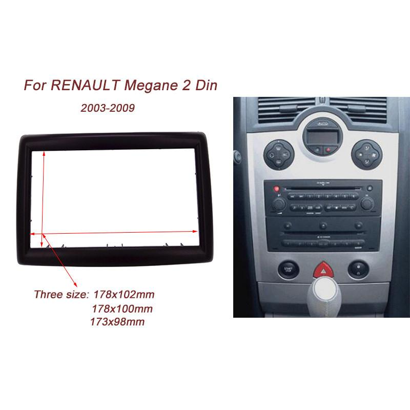 2 DIN Adapter CD Trim Panel Stereo Interface Radio Car Frame Panel Fascia for RENAULT Megane II 2003-2009
