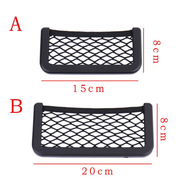 20*8CM 8*15CM Universal net car seat side storage bag pocket organizer phone holder adhesive box auto accessories pouch