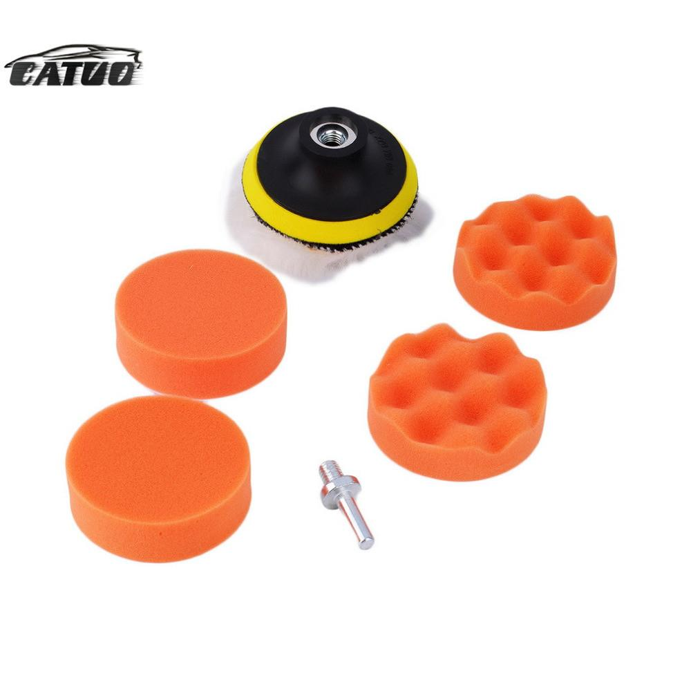 2015 3 inch Polishing Buffer Sponge Pad Set + Drill Adapter For Car Polisher