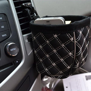 2016 Universal Car Interior PU Leather Multipurpose Easy Car Outlet Compartment Bucket Car Pouch Cars Bag Cay