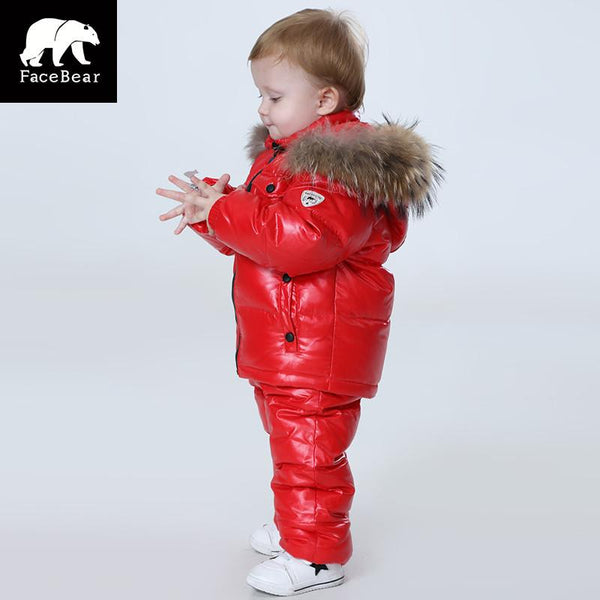 -25 degree winter children's clothing girl clothes sets for year's Eve boys parka jackets down coats Brand Orangemom
