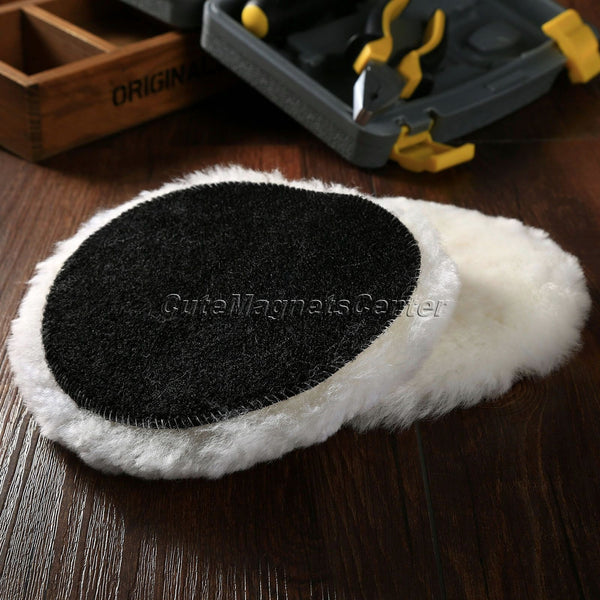2Pcs Lambs Woolen Heavy Cut Polishing Pad&Polishing Pad Choose From 2 3 4 5 6 7 Inch Car Styling Sponge Brushes Auto Clean Tools