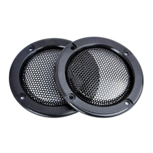 "2pcs set Decorative 2"" inch Tweeter Audio Speaker Cover Circle Metal Mesh Grille Covers Trim For Universal Cars"