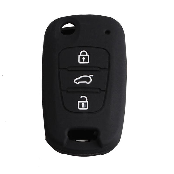 4 Colors Silicone Key Cover Holder Shell Fit For Kia K2 K5 Sportage Sorento Flip Folding Remote Key Case 3 Button With Kia L0g0