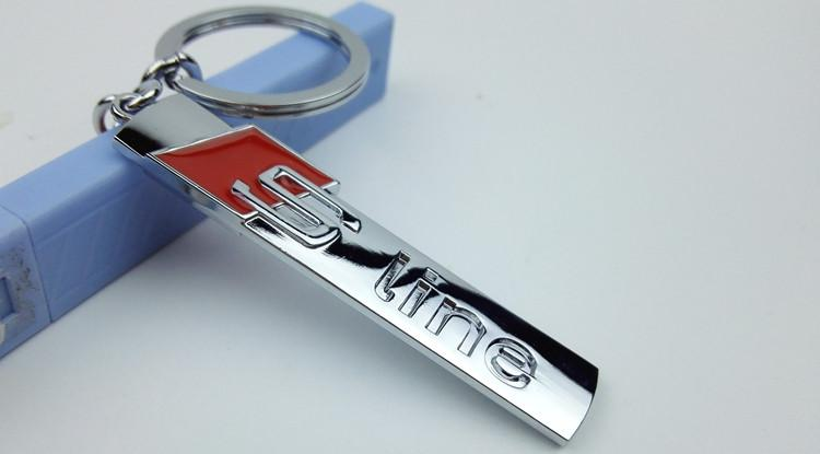Fashion S Line S Sport Etal Car Logo Key Ring Chain Keychain Keyring For Audi A4 A6 Q3 Q5 Q7 R8 Tt Chaveiro Llavero Key Holder