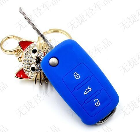 Silicone Car Key Cover For Vw Volkswagen Passat Polo Golf Touran Bora Seat Ibiza Leon Skoda Octavia Fabia 3 Buttons