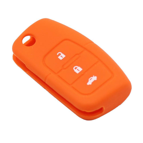 Keyyou Silicone Car Flip Folding Key Cover Remote Case For Ford Fiesta Focus 2 Ecosport Kuga Escape 3 Buttons
