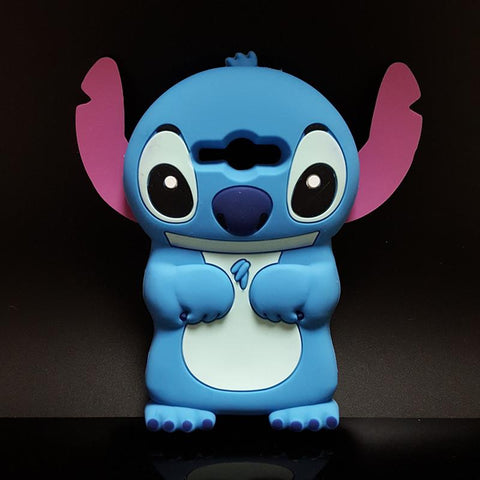 Cute 3D Cartoon Stich Soft Silicone Back Cover Lilo Stitch Case For Samsung Galaxy J3 2015 J300 J3109 & J3 2016 J320 J320F
