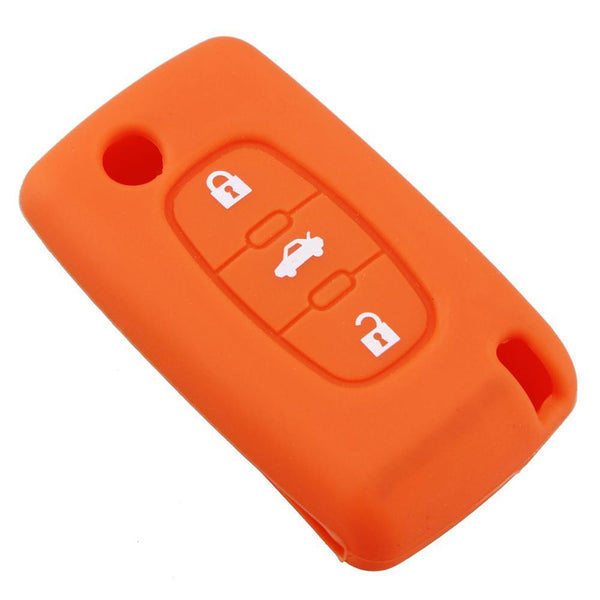 Silicone Car Key Fob Case Cover For 3 Buttons For Peugeot 208 207 3008 308 408 407 307 206 For Citroen C2 C3 C4 C81 Car Styling