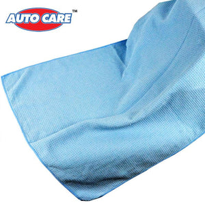 "Auto Care The Water Magnet Microfiber Drying Towel with Waffle Weave Design for Car Bath Kitchen & Dogs 23.6""X 31.5"" Blue"