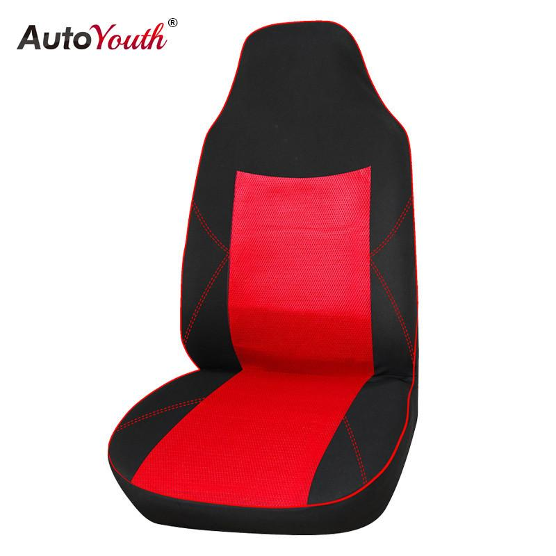AUTOYOUTH Sandwich Fabric Car Seat Cover 1pcs Universal Fit with Compatible with Most Vehicles Seat Cover Interior Accessories