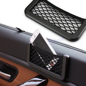"B86"" Auto Car Vehicle Storage Nets Resilient String Bag Phone holder Pocket Organizer"