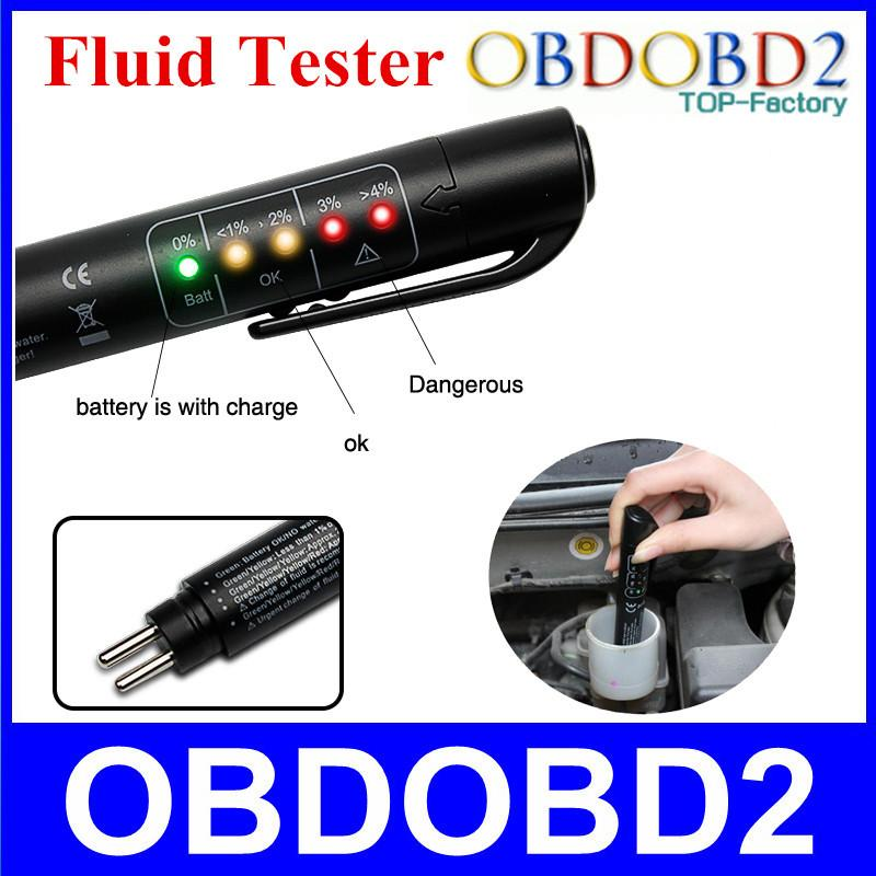 Brake Fluid Tester Mini Electronic Pen With 5 LED For DOT3 DOT4 Car Vehicle Diagnostic Tools Car Accessories
