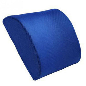 Blue Memory Foam Lumbar Back Support Cushion Pillow for Home Car Auto Seat