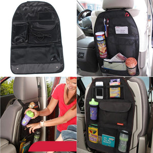 Car Accessories Black Seat Chair Back Hanging Foldable Organizer Black Multi-Pocket SeatBack Holder Bag Storage Bags