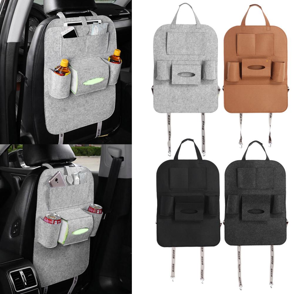 Car Auto Seat Back Multi-Pocket Storage Bag Organizer Holder Hanger Travel Storage Box
