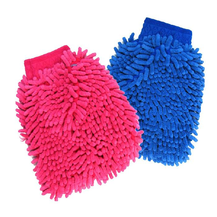 Car Microfiber Vehicle Truck Cleaning Glove Wash Mitten Cloth Washing Mitt Brush PINK BLUE Color Gloves