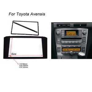 Car Radio Fascia for TOYOTA Avensis Facia Panel Stereo Face Plate Audio Bezel Facia dash Mount Kit Adapter Trim 2din DVD Frame