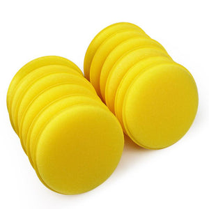 Car Wax Sponge Applicator Pads 12 pcs set Tyre Dressing Foam Yellow Anti-Scratch Car Care Car Cleaning Tool #iCarmo