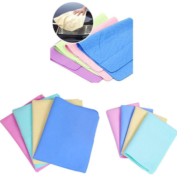 Colorful Magic Car Washing Wipe Towel Cloth Absorber Synthetic Chamois Leather