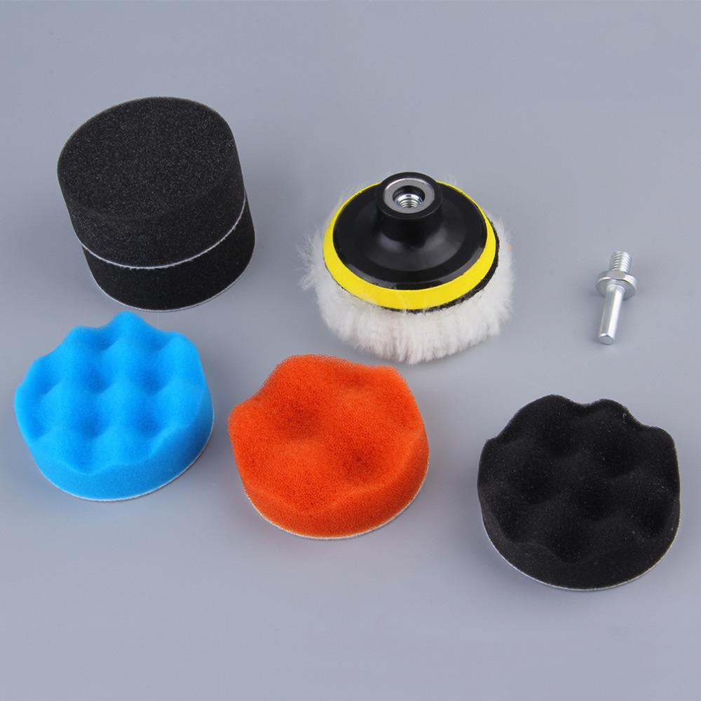 EDFY 7pcs Gross Polishing Buffing Pad Kit for Auto Car Polishing Wheel Kit Buffer With Drill Adapter