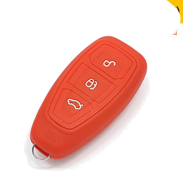 For Ford focus Mondeo Fiesta Escape Ecosport Silicone Car Key Cover Case 3 Buttons smart Car key Auto Accessories 1pc