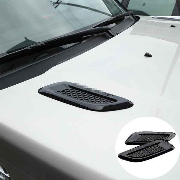 For Land Rover Range Rover Evoque Black Hood Air Vent Outlet Wing Trim 2012-2016 2pcs