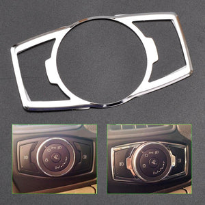 ABS Plastics & Chrome Fog Head Light Switch Button Cover Trim For Ford Focus Escape Kuga Edge 2011 2012 2013 2014